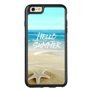 Hola playa de la sol de las estrellas de mar del funda otterbox para iPhone 6/6s plus