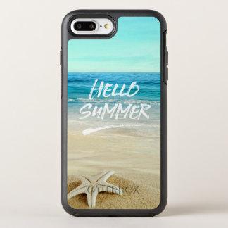 Hola playa de la sol de las estrellas de mar del funda OtterBox symmetry para iPhone 7 plus