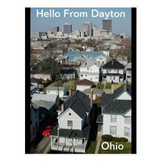 Hola postal de Dayton Ohio