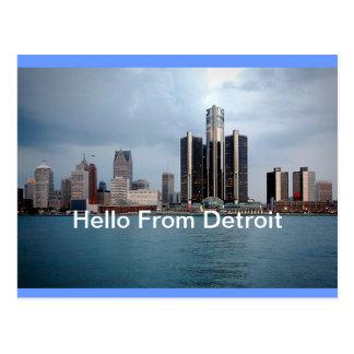 Hola postal de Detroit, Michigan