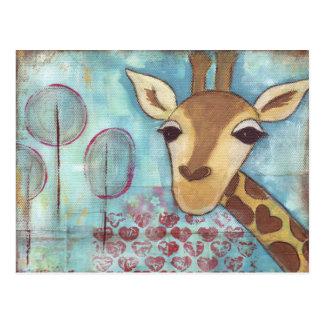 Hola postal de la jirafa del ~