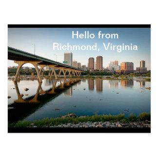 Hola postal de Richmond, Virginia
