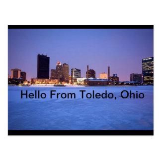 Hola postal de Toledo, Ohio