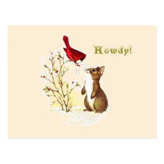 Hola postal del conejito