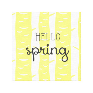 Hola primavera impresiones de lienzo