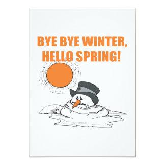 Hola primavera invitaciones personales