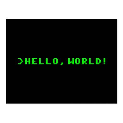 Hola programación informática del mundo postal