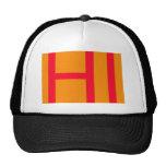 Hola, puede significar hola, o el HI como en inici Gorra