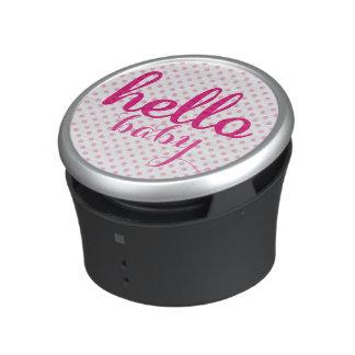 Hola puntos rosados modernos personalizados bebé altavoz bluetooth