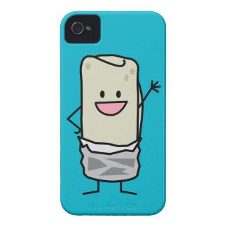 Hola que agita del Burrito feliz Case-Mate iPhone 4 Protectores