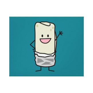 Hola que agita del Burrito feliz Impresión En Lienzo