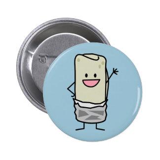 Hola que agita del Burrito feliz Pin Redondo 5 Cm