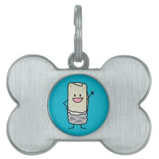 Hola que agita del Burrito feliz Placa Mascota