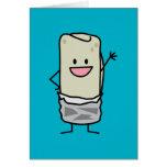 Hola que agita del Burrito feliz Tarjeta De Felicitación