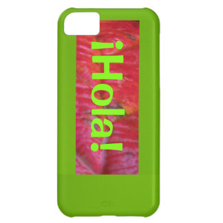 ¡Hola! - Red-Orange Cover For iPhone 5C