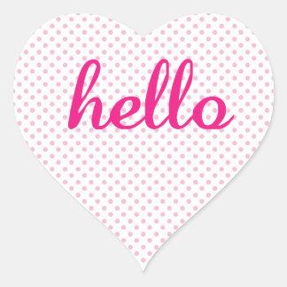 Hola regalos coloridos lindos del hola pegatinas de corazon personalizadas