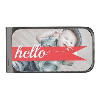 Hola regalos de la foto clip para billetes metalizado
