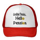 Hola regalos y camisetas del retiro de la pensión gorro