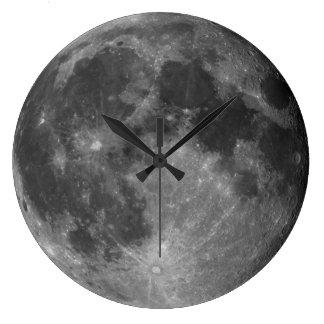 Hola reloj de pared de la luna de la resolución