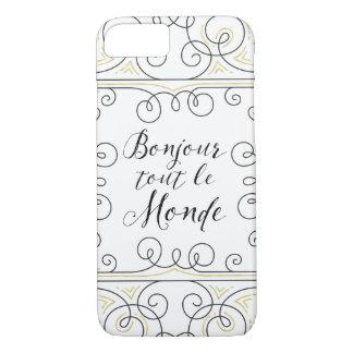 Hola revendedor alegre Le Monde de Bonjour del Funda iPhone 7