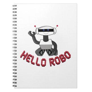 Hola Robo Libro De Apuntes Con Espiral