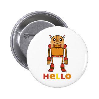 Hola robot - botón blanco pin