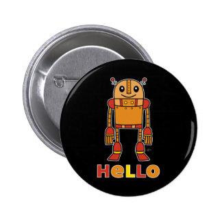 Hola robot - botón oscuro pin