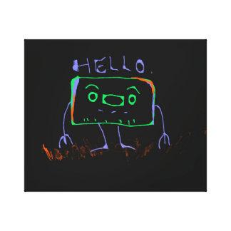 Hola robot impresiones de lienzo