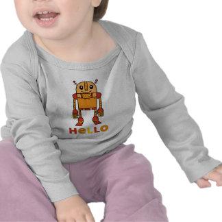 Hola robot - manga larga infantil camiseta