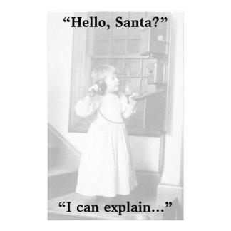 ¿Hola, Santa? - Efectos de escritorio Papelería Personalizada