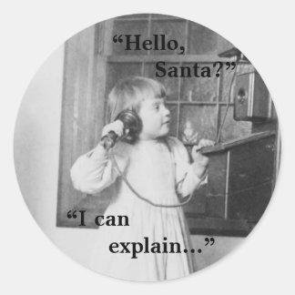 ¿Hola, Santa? - Pegatina