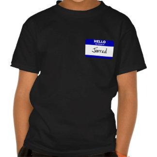 Hola se sacude mi nombre (el azul) camisetas