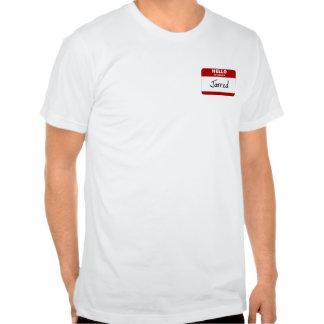 Hola se sacude mi nombre (el rojo) camisetas