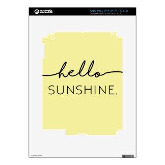 Hola sol - amarillo iPad 3 skin