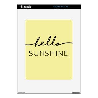 Hola sol - amarillo iPad calcomanías