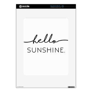 Hola sol calcomanías para iPad