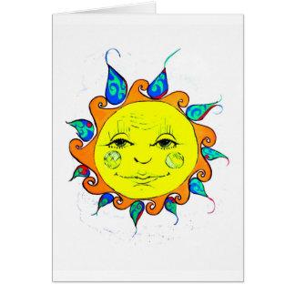Hola sol tarjeta de felicitación