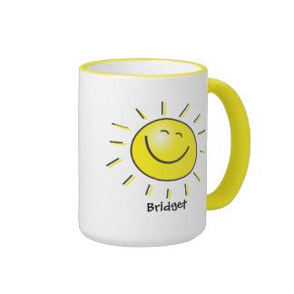 Hola sol taza de café