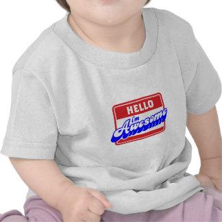 Hola soy diseño impresionante camisetas