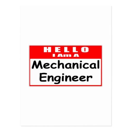 Hola, soy ingeniero industrial… Nametag Postales