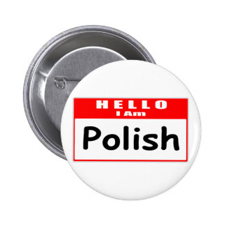 Hola, soy… Nametag polaco Pins