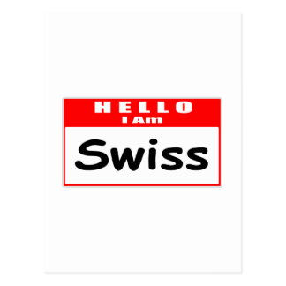 Hola, soy… Nametag suizo Tarjetas Postales