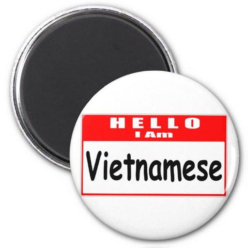 Hola, soy… Nametag vietnamita Imanes