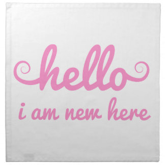 hola, soy nuevo aquí, diseño del texto para la fie servilleta imprimida