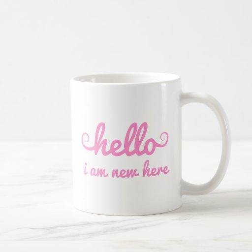 hola, soy nuevo aquí, diseño del texto para la fie tazas de café