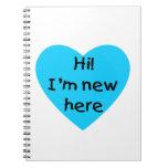 ¡Hola! Soy nuevo aquí (el azul) Cuaderno