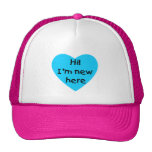 ¡Hola! Soy nuevo aquí (el azul) Gorras