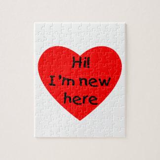 ¡Hola! Soy nuevo aquí (el rojo) Rompecabezas