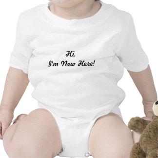 ¡Hola soy nuevo aquí Trajes De Bebé