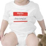"""Hola… soy """"tan enredadera del bebé de la barra de  camiseta"""